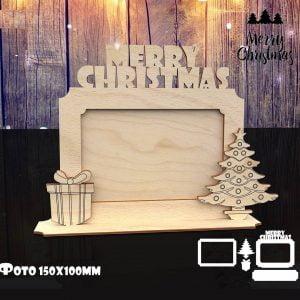 Макет рождественской фоторамки