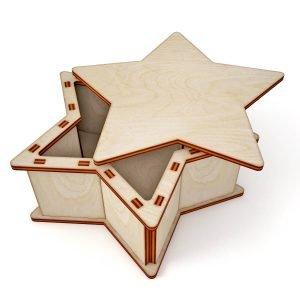 Макет коробки звезды