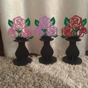 Макет салфетницы вазы с цветами