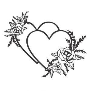Векторный рисунок 2 сердца