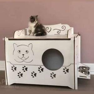 Макет домика для кошки