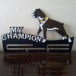 Макет медальницы с собакой