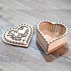 Макет шкатулки сердца