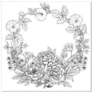 Векторный рисунок венка из цветов