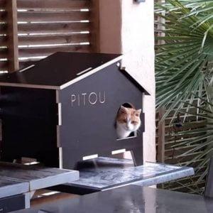 Макет дома для кошки