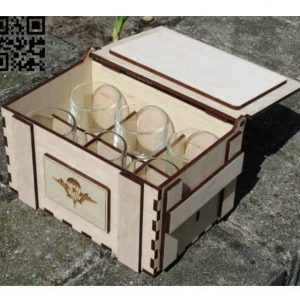 Макет коробки для 6 стопок