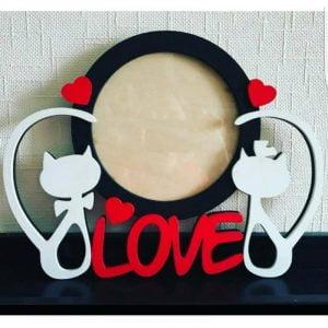 Макет рамки для фото Love