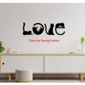 Макет панно Love