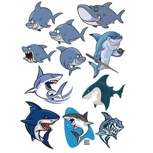 Акула рисунок в векторе