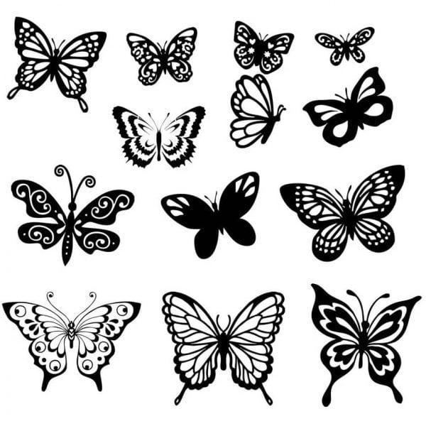 Бабочка рисунок в векторе
