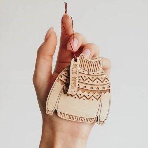 Макет брелока свитер