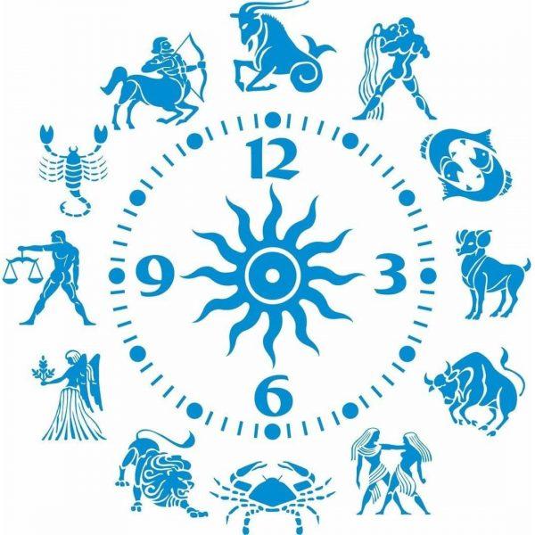 Часы гороскоп макет