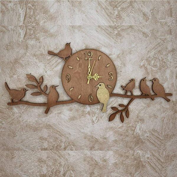 Часы с птицами макет