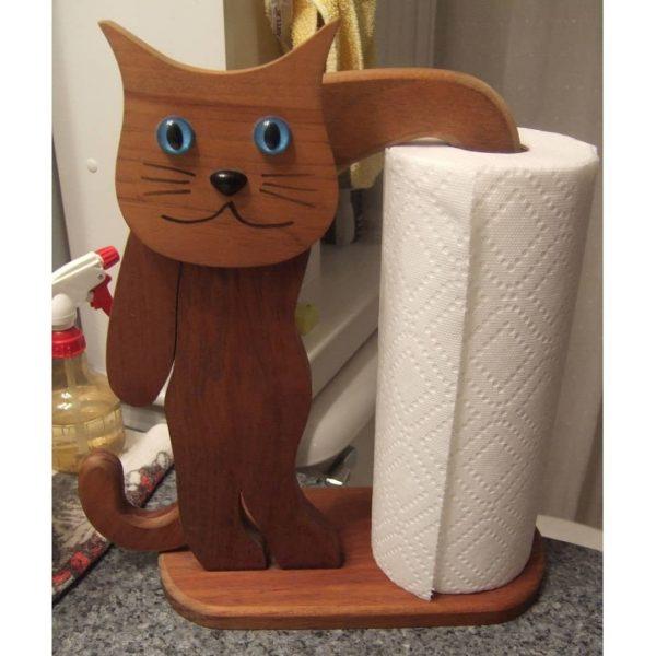 Держатель полотенца Кот макет