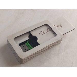 Макет коробочки для флешки