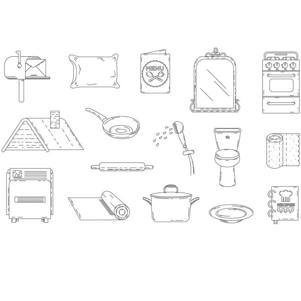 Элементы дома в векторе