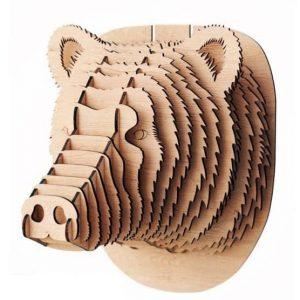 Макет головы медведя