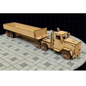 Макет грузовика с прицепом