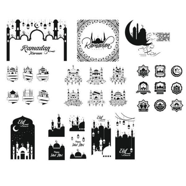 Исламские узоры и рисунки в векторе