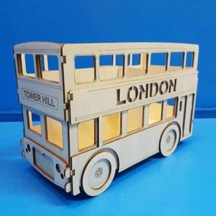 Карандашница автобус макет