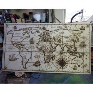 Макет карты мира для гравировки