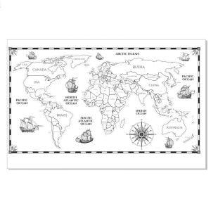 Старинная карта мира в векторе