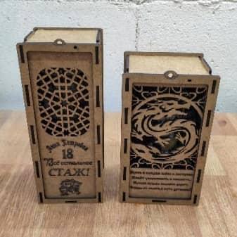 Макеты коробки под бокал и бутылку