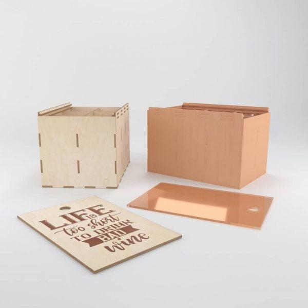 Макет коробки для 6 бокалов