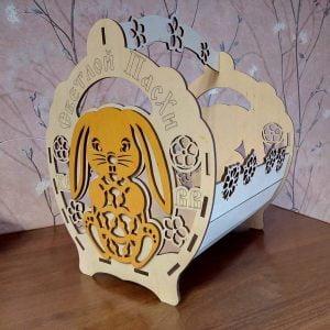 Макет корзинки с кроликом