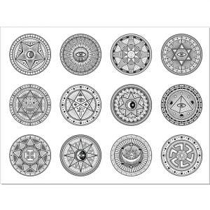 Векторные круглые узоры