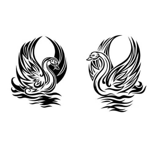 Лебедь векторный рисунок