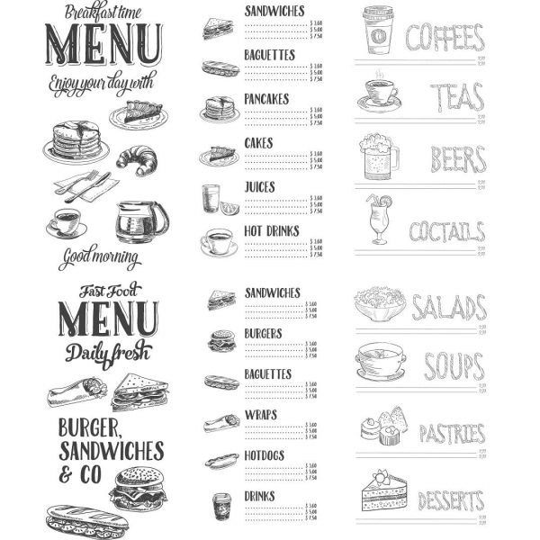 Элементы меню в векторе