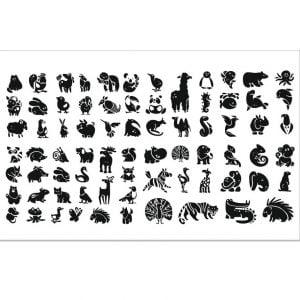 Векторный набор животных