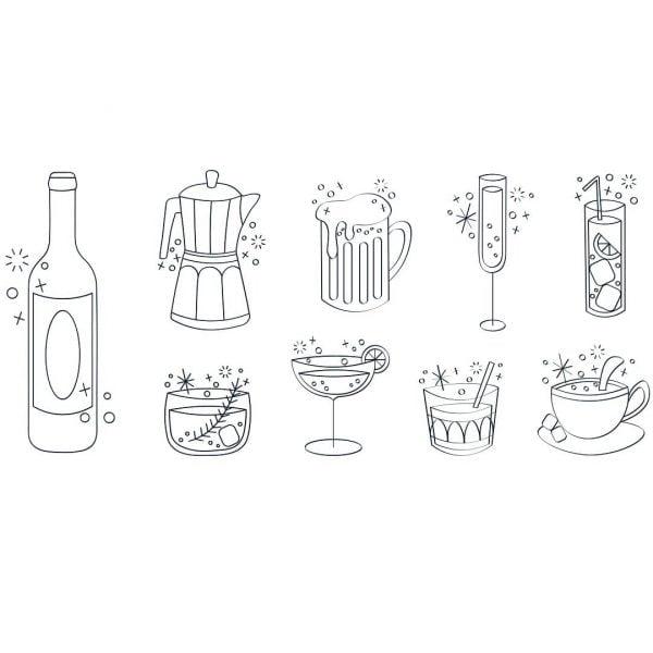 Векторные изображение напитков