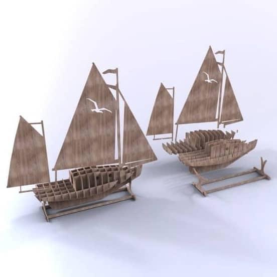 Макет парусной яхты