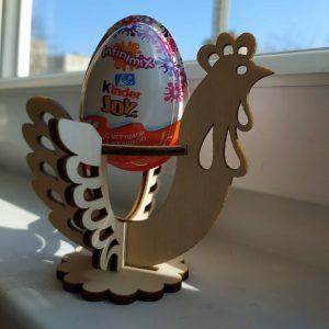 Макет подставки под яйцо Петух