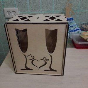 Макет коробки под 2 бокала
