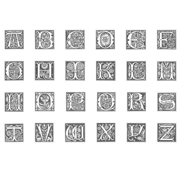 Старинный алфавит в векторе
