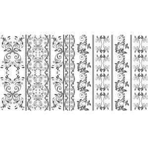 Цветочный винтажный орнамент в векторе