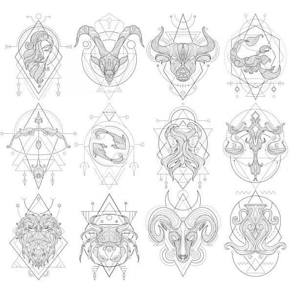 Векторные знаки зодиака