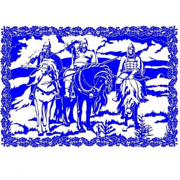 3 богатыря векторный рисунок
