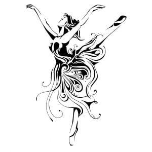 Балерина векторный рисунок