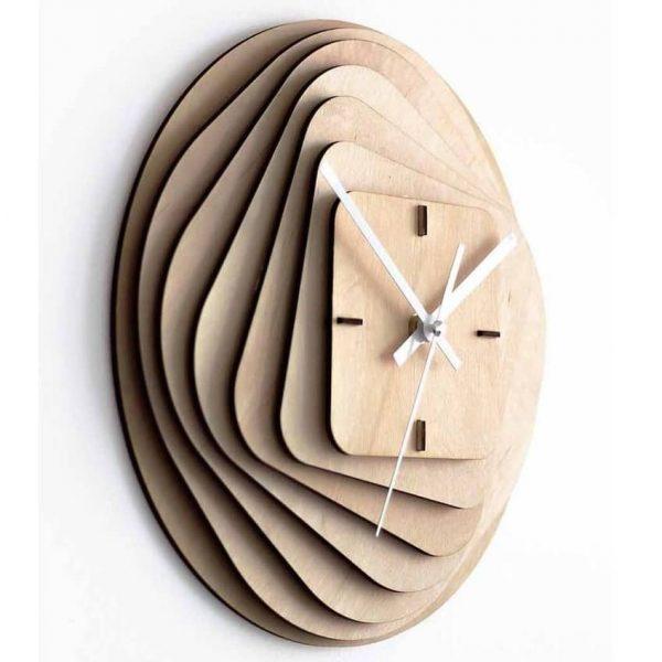 Объёмные фигурные часы макет
