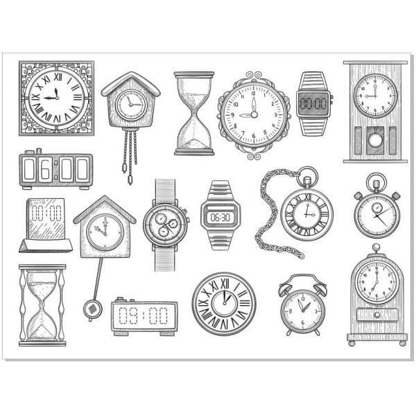 Векторный рисунок часов