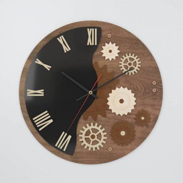 Часы декор шестернями
