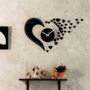 Часы сердечки макет