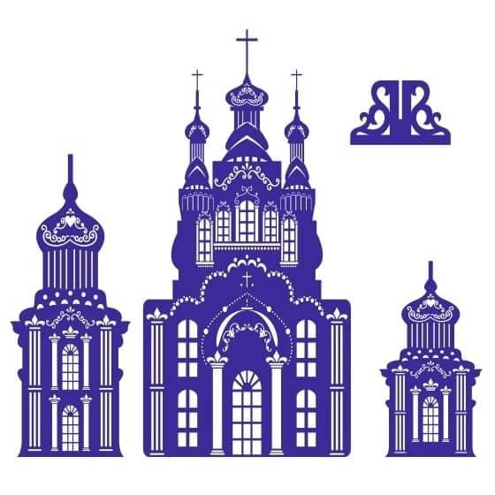 Церковь векторный рисунок