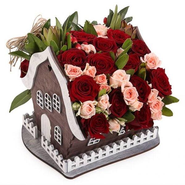 Макет цветочного домика