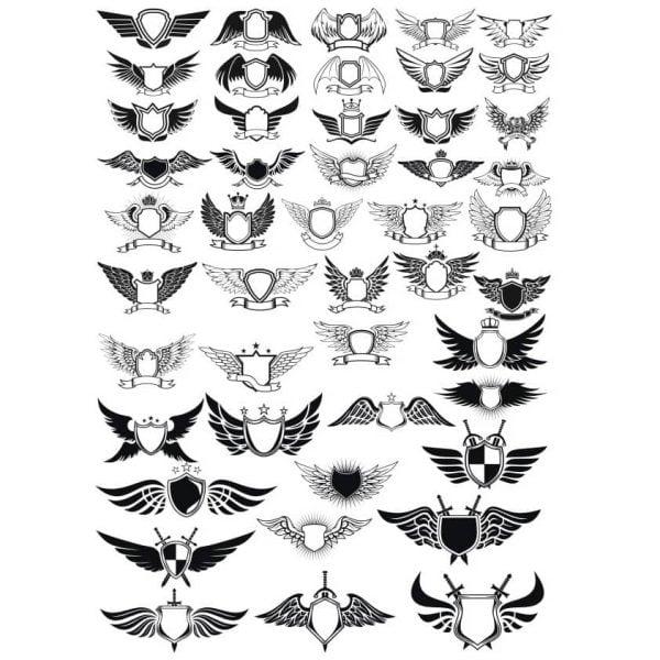 Эмблемы с крыльями