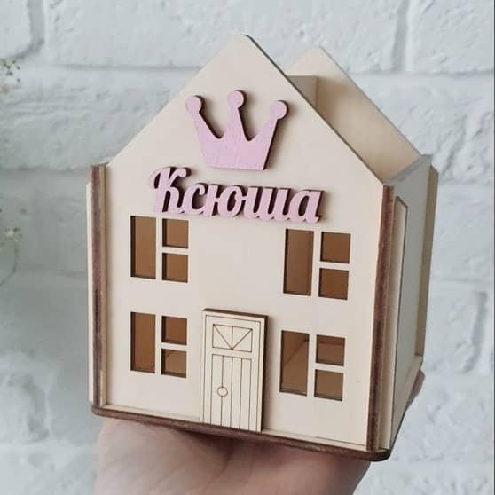 Карандашница домик макет